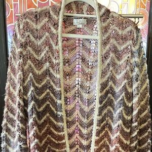 Ponseca Large GORGEOUS! open front open weave soft